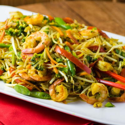 Light and Easy Singapore Noodles