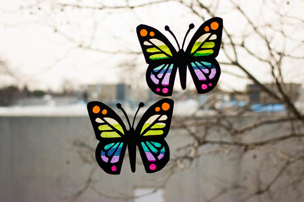 Butterfly Suncatchers AllFreeKidsCrafts