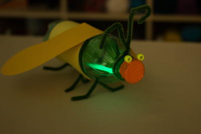 Glowing Firefly Recycled Bottle Craft