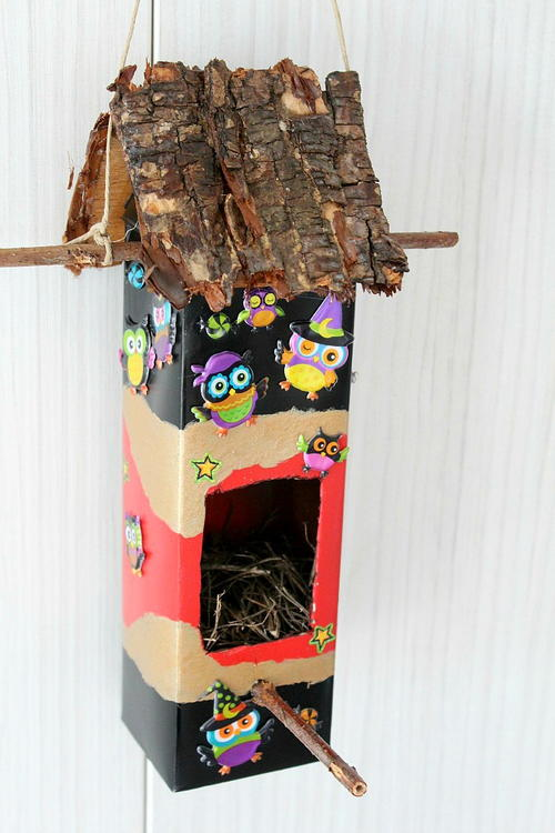 Birdhouse Milk Carton Craft