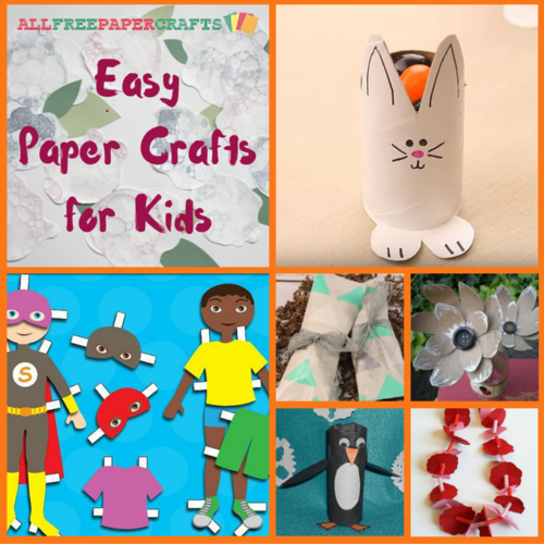 21 Easy Paper Crafts For Kids Allfreepapercrafts Com