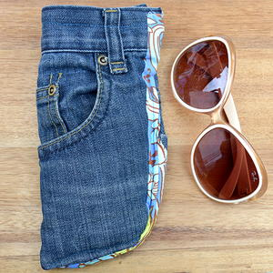Blue Jean DIY Sunglasses Case