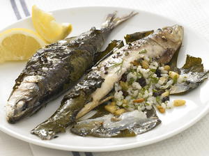 Stuffed Sardines in Grape Leaves