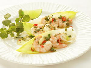 Shrimp with Mint, Chile, and Ginger