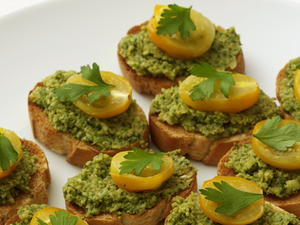 Crostini with Green Olive Tapenade