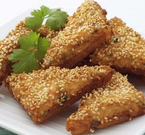 Sesame Shrimp Toasts