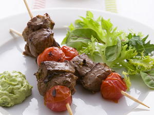 Beef Kebabs with Lime, Ginger, and Honey