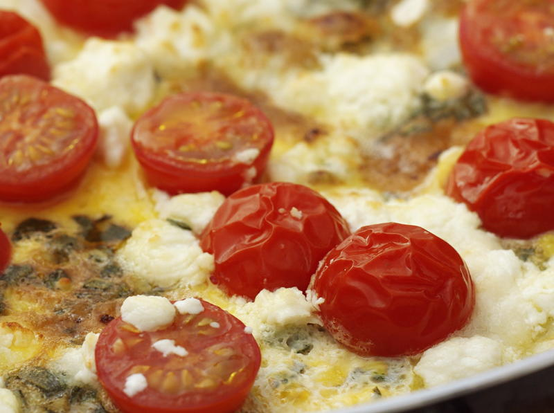 Herb and Goat Cheese Frittata | Cookstr.com