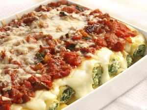 Spinach and Ricotta Manicotti