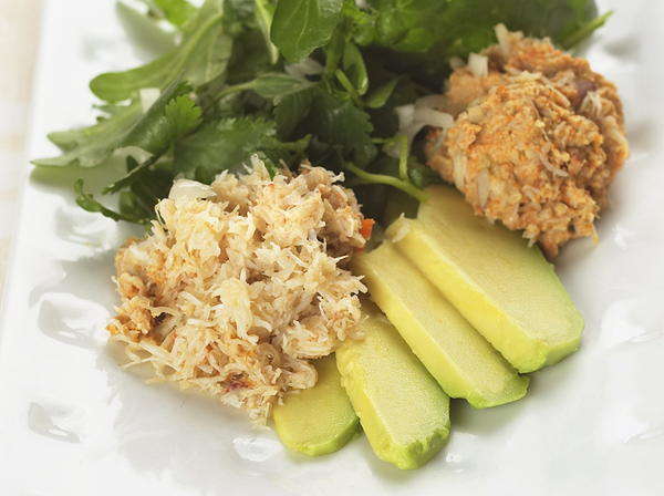 Crab Salad with Mango Dressing