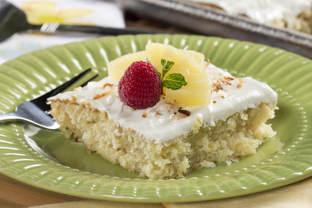 good cake recipes pineapple sheet cake mrfood 4577