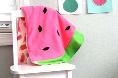 Watermelon Seeds Easy Baby Blanket
