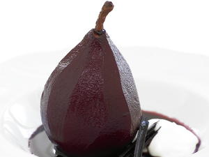Pears Poached in Wine