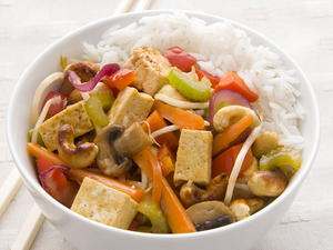 Chile Tofu Stir-Fry