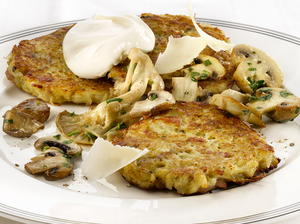 Potato and Fennel Pancakes with Mushrooms