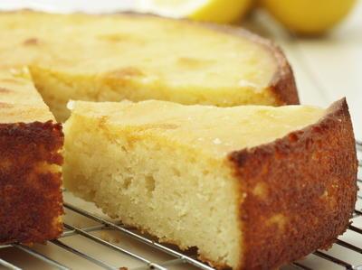 Recipe for a round lemon cake