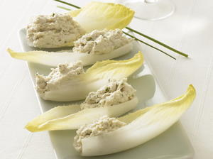 Smoked Chicken Mousse on Endive
