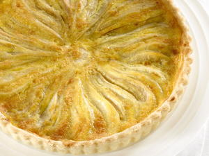 Pear and Star Anise Tart with Ginger Crust