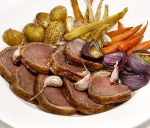 Roast Lamb with Root Vegetables