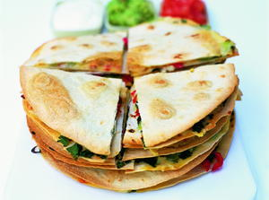 Quesadillas with Salsa and Guacamole