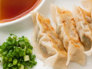 Pot Sticker Dumplings with Ginger-Soy Dipping Sauce