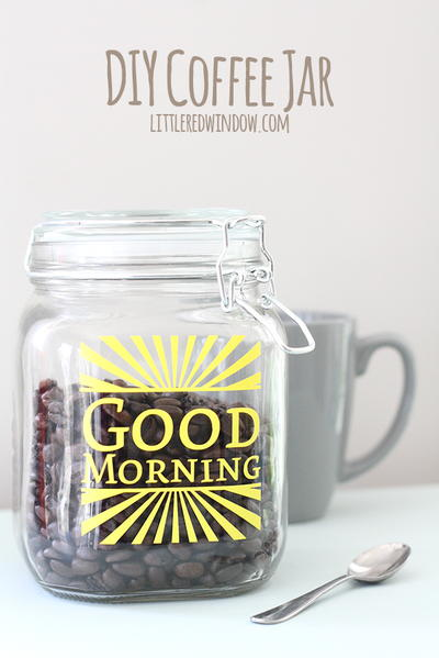 Good Morning Beans Jar