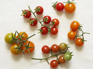 Cherry Tomato and Black Olive Salad