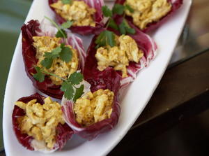 Curried Chicken in Radicchio Cups