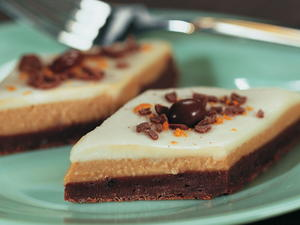 Coffee Mocha Cheesecake Diamonds