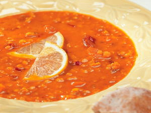 Red Lentil and Carrot Soup with Coconut