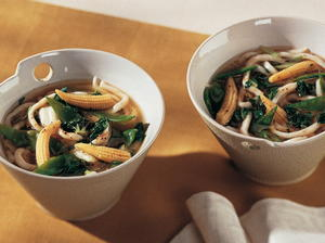 Hot-and-Sour Udon Noodle Soup