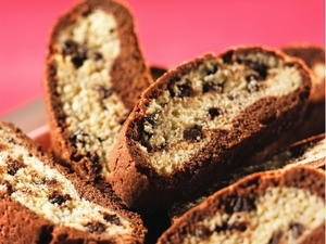Chocolate-Wrapped Ginger Biscotti