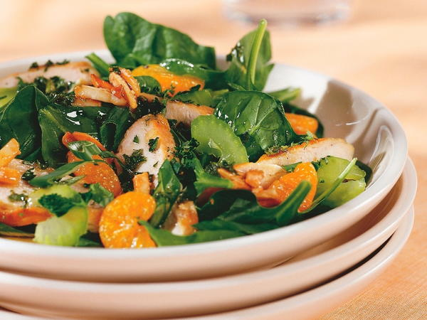 Grilled Chicken Mandarin Salad with Sweet-and-Sour Dressing