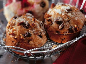 Maple Pecan Muffins with Chocolate Chips