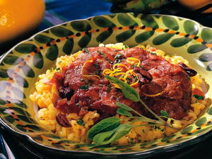 Veal Shanks with Red Wine Sauce