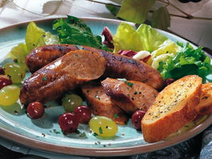 Sausages with Grapes
