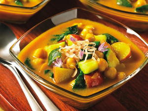 Coconut Curried Chickpea Soup