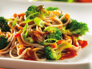 Soba Noodles with Broccoli Sauce