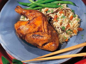 Peking Savory Fried Cornish Hens