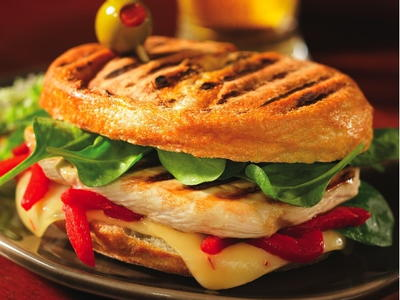Grilled Chicken, Spinach, Red Pepper, and Pepper Jack ...