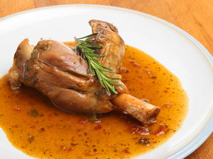 Braised Lamb Shanks with Garlic and Rosemary