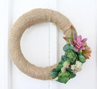 Succulent DIY Wreath