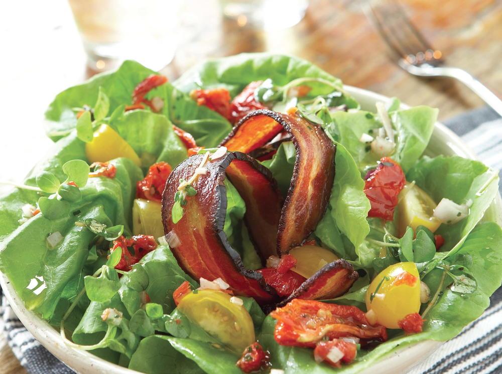 Gigi BLT Salad with Roasted-Tomato Vinaigrette   Cookstr.com
