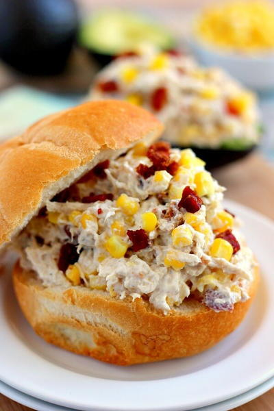Lightened-Up Bacon Chicken Salad