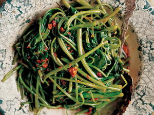 Stir-Fried Water Spinach, Nyonya Style