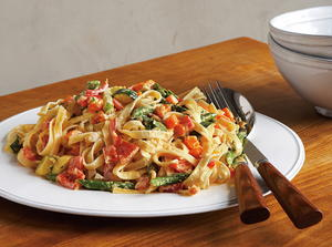 Fettuccine with Spring Vegetables