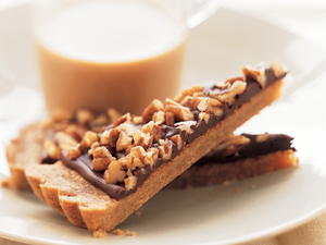 Toffee Chocolate-Nut Wedges
