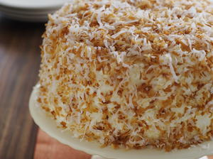 Toasted Coconut Cake with Lime Cream and Mount Gay Rum