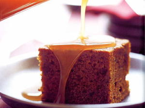Date Cake with Toffee Sauce