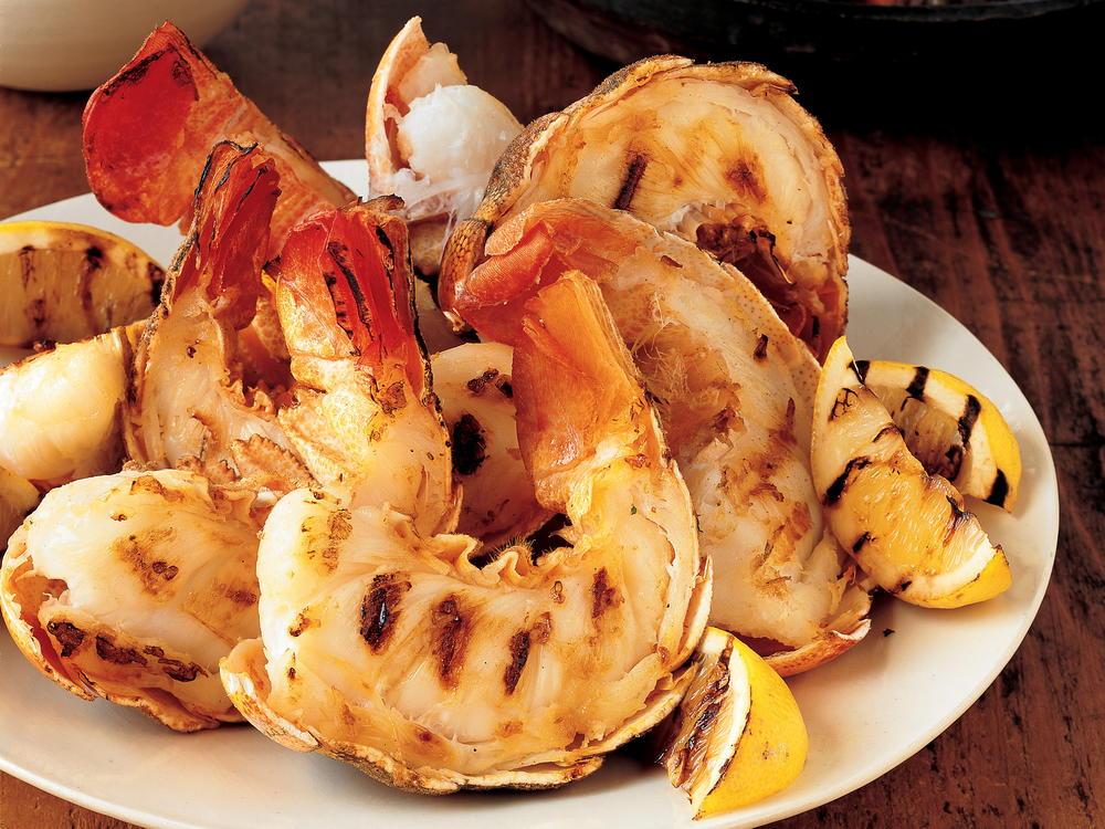 Grilled Rock Lobster Tails | Cookstr.com